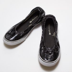 American Eagle Rubber Soled Black Patent Flats